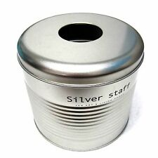 New Metal Cylinder Toilet Roll Case Tissue Box Toilet Paper Dispenser Silver