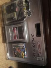 Nintendo Game Boy Micro Silver Handheld System+Accessories Bundle Crash New