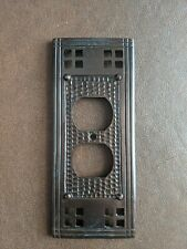 """Mission Oil Rubbed Bronze Outlet Cover Hammered Copper 7"""""""