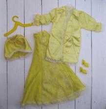 BARBIE Doll Clothes-vtg/clone Yellow Lace/Skirt/Top/Robe LINGERIE BOUDOIR Sleep