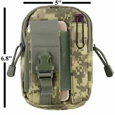 Tactical Pouch EDC Utility Gadget Belt Waist Camping Hiking Camo Green