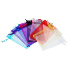 10pcs Drawstring Organza Bags Jewelry Pouches Wedding Party Gift Bag Mixed