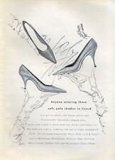 1962 Lord & Taylor fashion Pale Shades in Lizard Shoes  PRINT AD