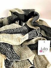 Soft Scarf Wrap Loose Weave Black Gray Cream Lulla by Bindya Fashion Accessory
