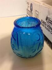 Lot 12 Sterno Products 40120 Euro-Venetian Filled Glass Candles Blue 45 Hour