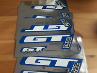 SIX ORIGINAL GT FREESTYLE FORK DECAL SETS (BLUE) 1980'S - NEW OLD SHOP STOCK