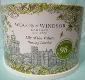 Woods of Windsor  Lilly of the Valley  Dusting Powder with Puff  3.5oz