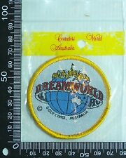 VINTAGE DREAMWORLD QLD EMBROIDERED SOUVENIR PATCH WOVEN CLOTH SEW-ON BADGE
