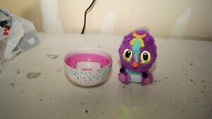 """Hatchimals HatchiBabies Purple Ponette Interactive Toy 6"""" Bird Spin Master"""