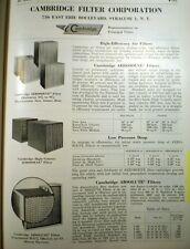 CAMBRIDGE Filter Corporation ASBESTOS Catalog Ad Page