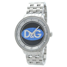 *NEW* DOLCE & GABBANA MENS UNISEX D&G PRIME TIME WATCH DW0849 BLACK BLUE