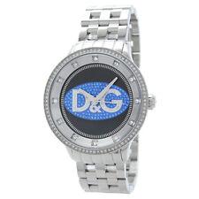 *NEW* DOLCE & GABBANA MENS UNISEX D&G PRIME TIME WATCH DW0849 BLACK BLUE