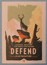 FIREWATCH Olly Moss DEFEND Our Frontier MINI ART PRINT 5x7 Poster Postcard