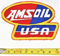 "AMSOIL USA Patch Red White Blue Embroidered 4"" x 2.75"" Vintage New Old Stock"