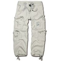 Brandit Pure Vintage Trouser Old White Weiß Cargohose Outdoor Army Armeehose