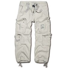 Brandit - Pure Vintage Trouser Old White Weiß Cargohose Outdoor Army Armeehose