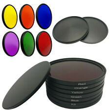 6 IN 1 Full Color Lens Filter 40.5 46 - 82mm Red Purple Yellow for DSLR Camera
