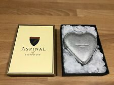 ASPINAL of LONDON  Leather Heart Silver Saffiano Coin Purse ! New! Only £59,90!