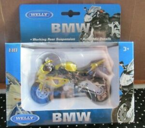 NEW Welly 12810 BMW S1000RR Motorcycle Diecast Metal & Plastic parts 1:18