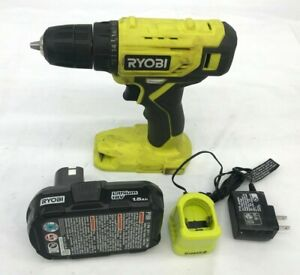 RYOBI PDD209K 18-Volt ONE+ Cordless 3/8 in. Drill/Driver Kit, VG
