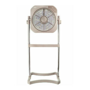 Air Innovations 12 Inch 2 in 1 Swirl Cool Fan with Cord Wrap Taupe