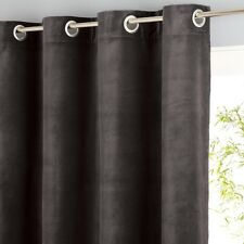 AM.PM Single Teddy Sheer Velour Curtain in Brown - 140cm x 180cm drop RRP £59
