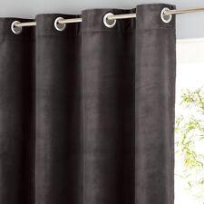 AM.PM Teddy Sheer Velour Curtains in Brown - 140cm x 220cm drop RRP £98