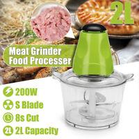2L Multifunction Electric Food Fruit Mincer Meat Grinder 4 Blades Maker Machine