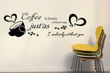 HOT STEAMY MIND BLOWING coffee vinyl wall art sticker home cafe decor removable