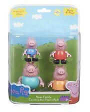 Peppa Pig 4 conjunto de figuras Articulado 18 meses + Family Construction