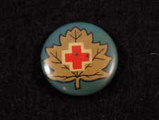 WWI/WWII Canadian Red Cross Society Celluloid Pinback