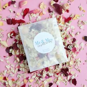 MR & MRS Wedding Flower Confetti Sachet   Eco-Friendly & Biodegradable