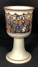 "Hoganas Keramik Stoneware Goblet Cup on Pedestal Made in Sweden 3 5/8"" Diameter"
