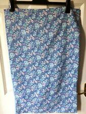 """Vintage 1 blue floral pillow slip/case/cover.18""""x29"""",cotten/polyester,plain,side"""