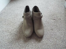 Ladies M & S size 5 fawn faux suede short boots
