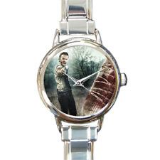 Reloj de pulsera Reloj de mujer muertos vivientes Italiano de bisutería de enlace Rick y Lucille!