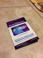 Ultra Mobile Prepaid Nano Sim Card W/ First month $29 Plan(Read Description)