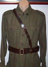 AUSTRALIAN ARMY SAM BROWN OFFICERS LEATHER BELT WITH STRAP - SIZE 32 or 34