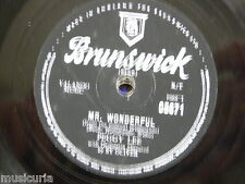 78rpm PEGGY LEE mr wonderful / the gipsy with fire in his shoes