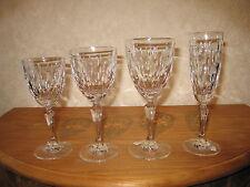 ROGASKA CRYSTAL *NEW* AMANDA Set 4 Verres Glasses