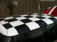 MINI CHECK,CHECKERED ROOF STICKER KIT-DECALS-LOTS OF COLOURS-LOOKS GREAT