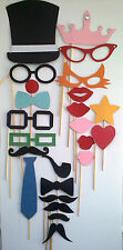 24PCS Photo Booth Props For Wedding Party Moustache&Lips On A Stick