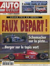 AUTO HEBDO n°976 du 29 Mars 1995 GP BRESIL PORSCHE 911 TURBO & GT2 & TURBO S LM