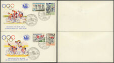 Belgium 1963 - 2 FDC Cover Cycling Olympics