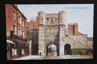 YORK Bootham Bar - Vintage Colour Photochrom Postcard A.4730 - Unused