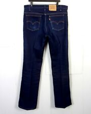vtg 70s Levis 517 BootCut SaddleMan MINTY Dark USA Denim Jeans orange tab 38X35
