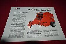 Massey Ferguson 1440 Round Baler Dealer's Brochure Dcpa