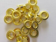 "500 # 2 ( 3/8"" ) Solid Brass Self Piercing Grommets & Washers 500 Pair"
