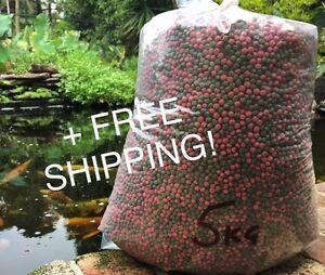 Fish Food Koi - Floating 6mm Med Pellet - 5kg Bulk + FREE SHIPPING!