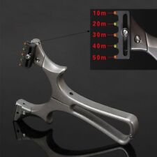 Archery Hunting Slingshot Catapult Aiming Point with Flat Elastic Rubber Band